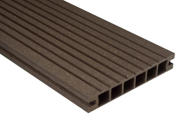 Deska DeLux - szlifowana –ciemny brąz – 2400x160x28 mm