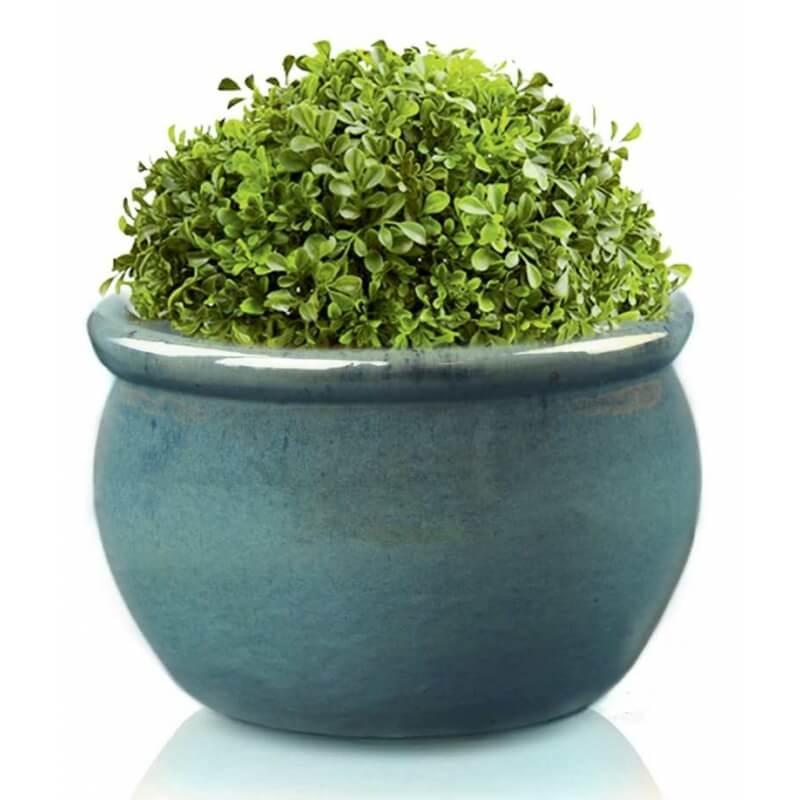 Donica ceramiczna | Glazed Round-Pot 50x32 cm