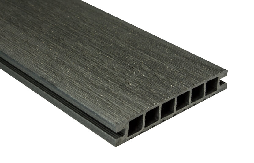 Deska Tarasowa DeLux – szczotkowana – grafit – 2400x160x28mm