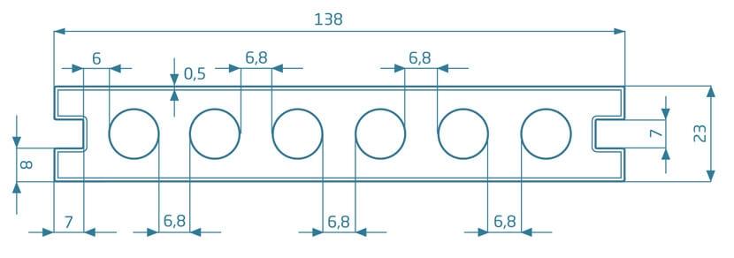 Deska Prestige – dąb szary/dąb natural 2200x138x23 mm
