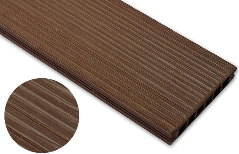 Deska szczotkowana – jasny brąz – wąski rozstaw  3600x145x24 mm