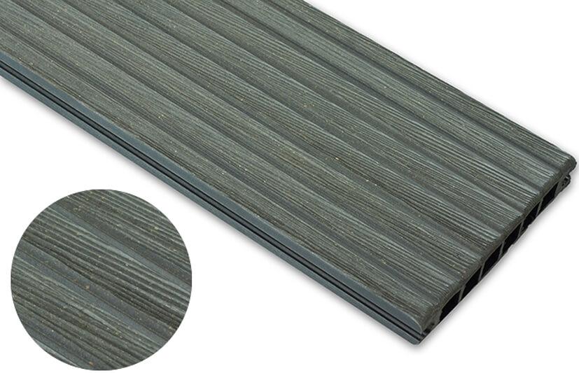 Deska szczotkowana – grafit – szeroki rozstaw 3600x145x24 mm