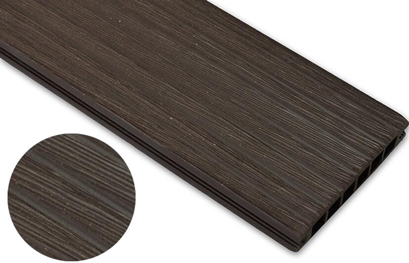 Deska szczotkowana – ciemny brąz – szeroki rozstaw 3600x145x24 mm