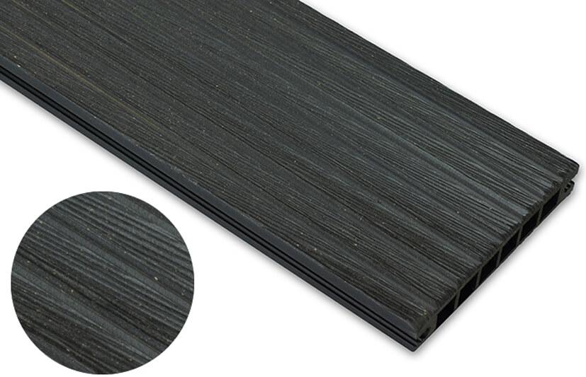 Deska szczotkowana – antracyt – szeroki rozstaw 3200x145x24 mm