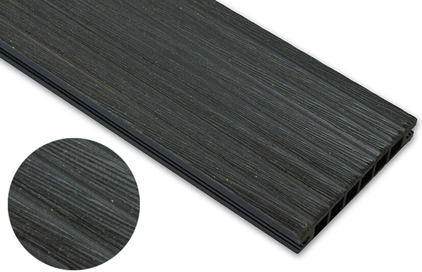 Deska szczotkowana – antracyt – szeroki rozstaw 2400x145x24 mm