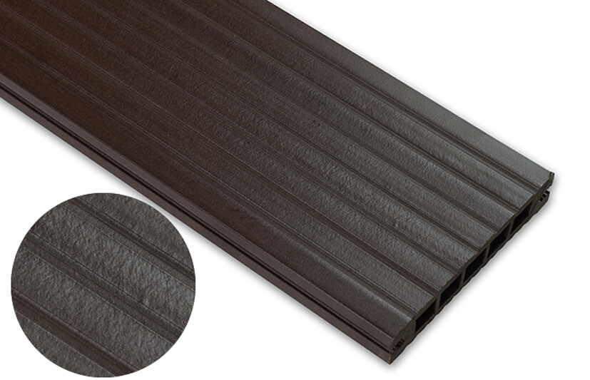Deska standard – ciemny brąz – szeroki rozstaw 2400x145x24 mm