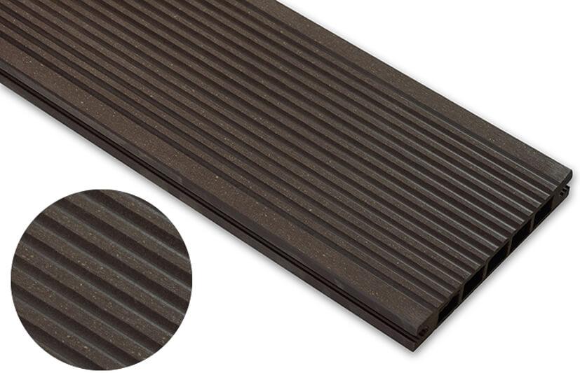 Deska szlifowana – ciemny brąz – wąski rozstaw 3200x140x22 mm