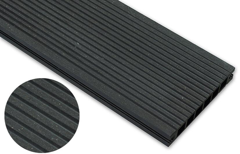 Deska szlifowana – antracyt – wąski rozstaw 2400x140x22 mm