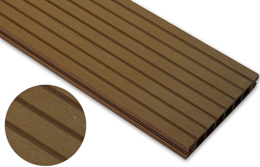 Deska szlifowana – dąb brąz – szeroki rozstaw 2400x145x24 mm