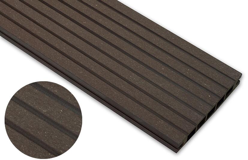 Deska szlifowana – ciemny brąz – szeroki rozstaw 2400x140x22 mm