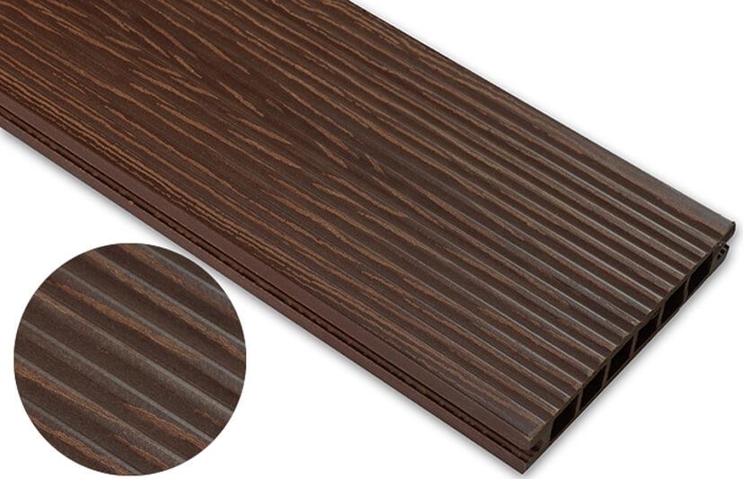 Deska deseniowana – jasny brąz – wąski rozstaw 3600x140x22 mm
