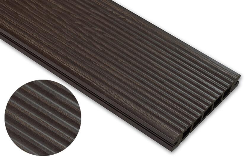 Deska deseniowana – ciemny brąz – wąski rozstaw 2200x140x22 mm