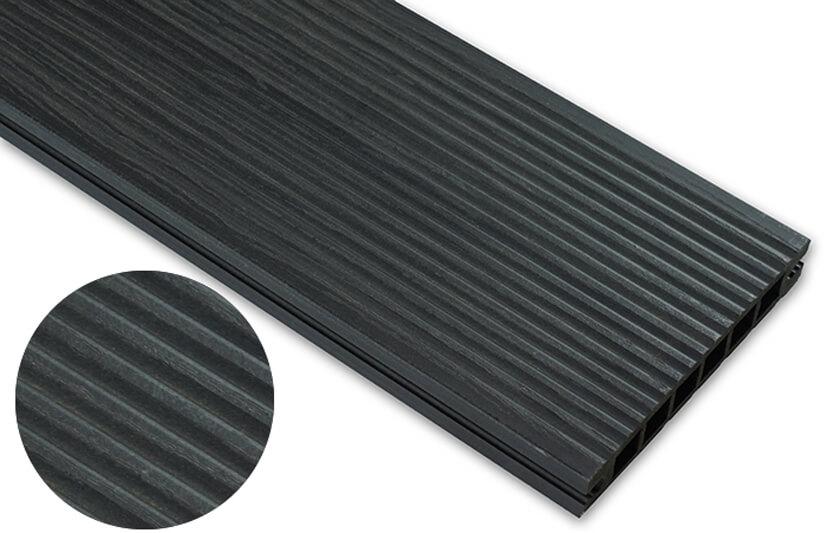 Deska deseniowana – antracyt – wąski rozstaw 3200x140x22 mm