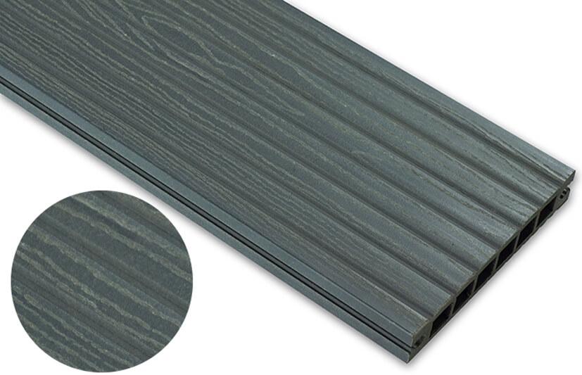Deska deseniowana – grafit – szeroki rozstaw 2200x140x22 mm