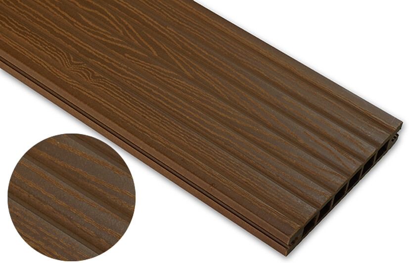 Deska deseniowana – dąb brąz – szeroki rozstaw 3600x145x24 mm