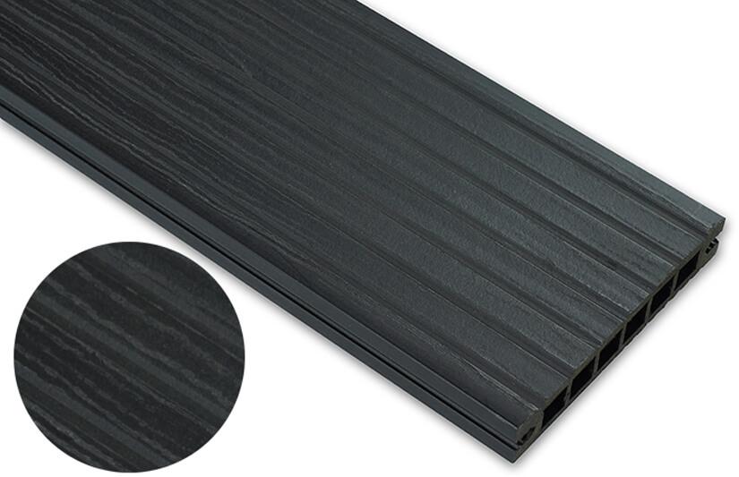 Deska deseniowana – antracyt – szeroki rozstaw  2400x140x22 mm