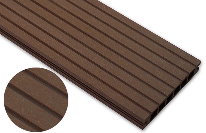 Deska szlifowana- jasny brąz – szeroki rozstaw 2400x145x24 mm