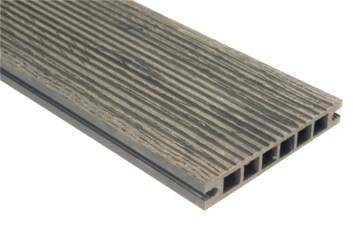 Deska szlifowana-deseniowana – ciemny brąz – szeroki rozstaw 3600x140x22 mm