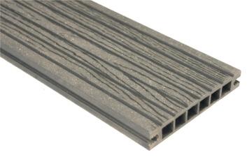 Deska szlifowana-deseniowana – antracyt – szeroki rozstaw 2400x140x22 mm