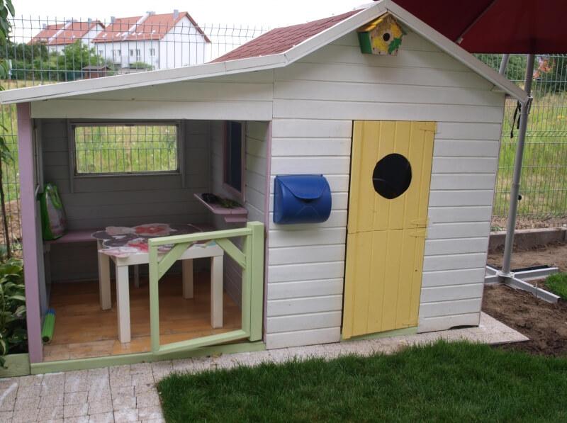 Domek ogrodowy z drewna dla dzieci - Ewelinka