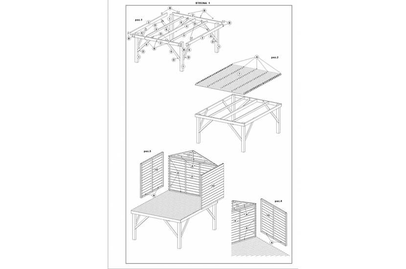 Drewniany domek ogrodowy dla dzieci - Grześ ze ślizgiemDrewniany domek ogrodowy dla dzieci - Grześ ze ślizgiem