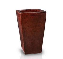 brown red - średnica 52 cm; wysokość 92 cm