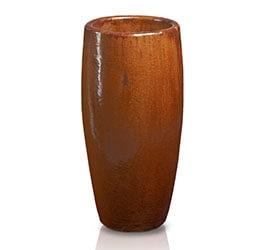 Ekskluzywna donica szkliwiona w kształcie cygara; średnica 49 cm; wysokość 105 cm