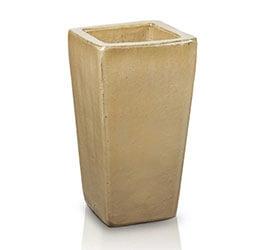 Donica Camila Krem szkliwiona o kwadratowej z podstawkie; średnica 17 cm; wysokość 33 cm