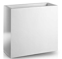 Donica Fiberglas high rectangle white, średnica 74 cm x 28 cm, wysokość 92 cm