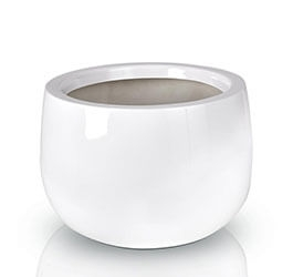 Donica Fiberglas bowl white, średnica 34 cm, wysokość 23 cm