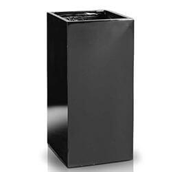 Donica Fiberglas high square black, średnica 23 cm, wysokość 50 cm