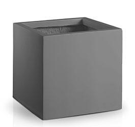 Donica Fiberglas square black, średnica 50 cm, wysokość 50 cm