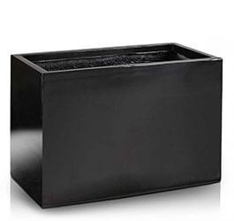 Donica Fiberglass rectangle black, średnica 100 cm x 45 cm, wysokość46 cm