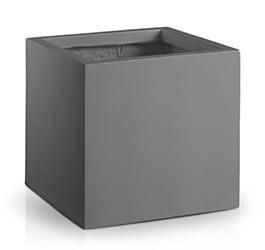 Donica Fiberglass square graphite, średnica 25 cm, wysokość 25 cm