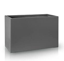 Donica Fiberglas rectangle graphite, średnica 60 cm x 30 cm, wysokość 39 cm