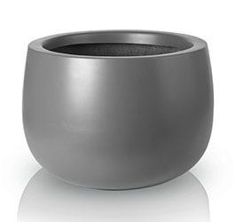 Donica Fiberglass bowl graphite, średnica 34 cm, wysokość 23 cm