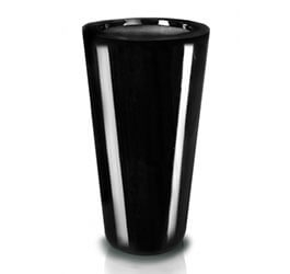 Donica Fiberglass  cone - black, średnica 33 cm, wysokość 62 cm