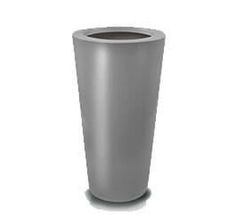 Donica Fiberglas  cone - graphite, średnica 33 cm, wysokość 62 cm