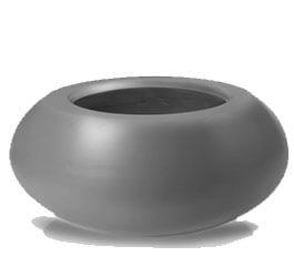 Donica Fiberglas  ufo - graphite, średnica 72 cm, wysokość 36 cm