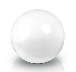 Donica - Kula Fiberglas decoball white, średnica 40 cm