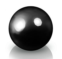 Donica - Kula Fiberglas decoball black, średnica 40 cm