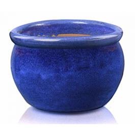 Donica   Round Pot Kobalt, średnica 50 cm; wysokość 32 cm