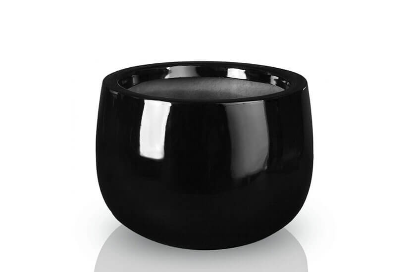 Donica Fiberglass  bowl - black, średnica 45 cm wysokość 32 cm,