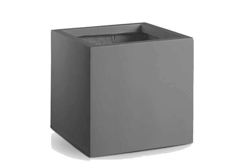 Donica Fiberglass high square graphite, średnica 40 cm, wysokość 40cm