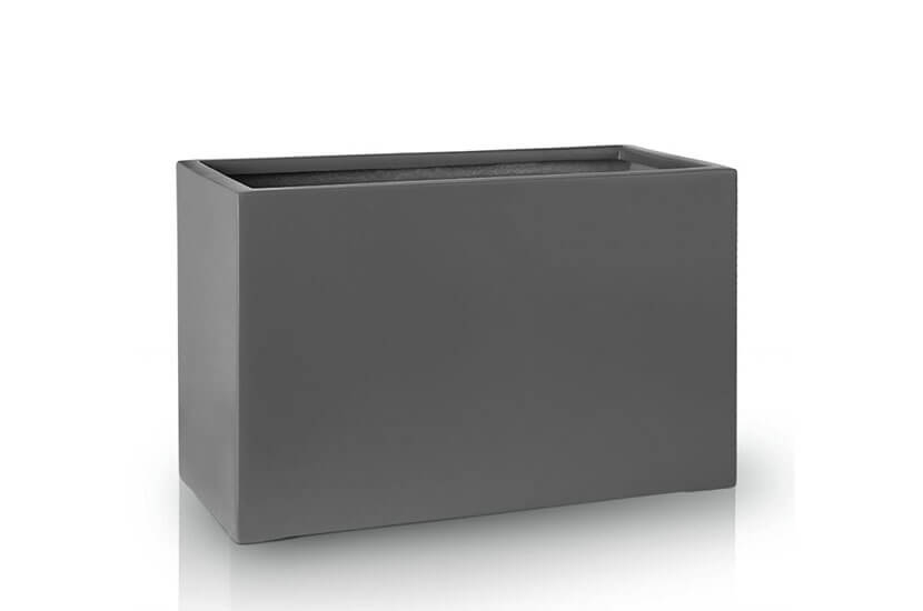 Donica Fiberglas rectangle graphite, średnica 80 cm x 38 cm, wysokość 43 cm