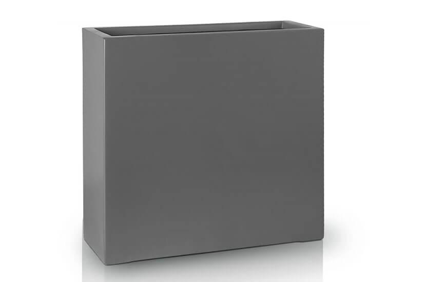 Donica Fiberglass  high rectangle graphite, średnica 75 cm x 28 cm, wysokość 75 cm
