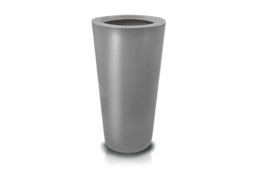 Donica Fiberglass cone - graphite, średnica 33 cm, wysokość 62 cm