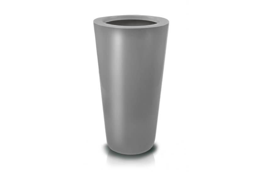 Donica Fiberglass cone - graphite, średnica 44 cm, wysokość 92 cm