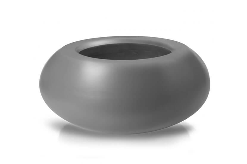 Donica Fiberglass ufo - graphite, średnica 72 cm, wysokość 36 cm