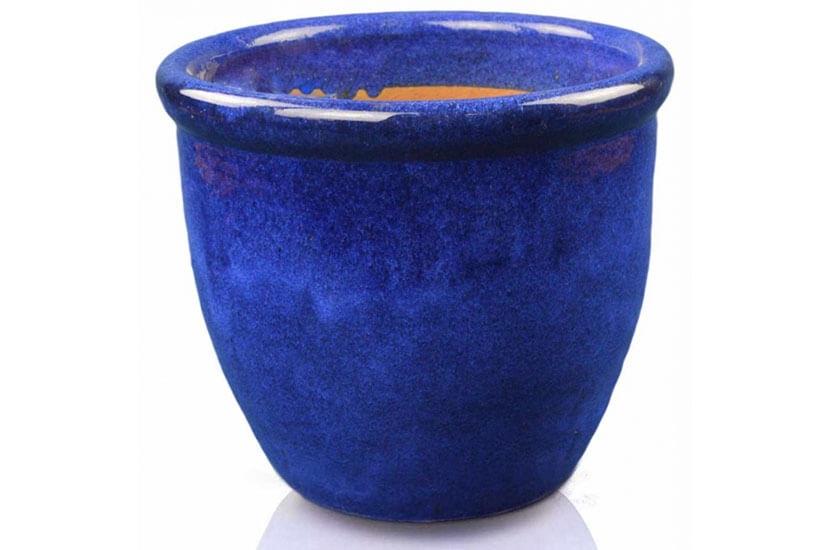 Donica ceramiczna Glazed 352 Pot  średnica 49 cm x 40 cm Kobalt